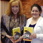 Bobbi Kornblit and Dallas librarian Amy Prior